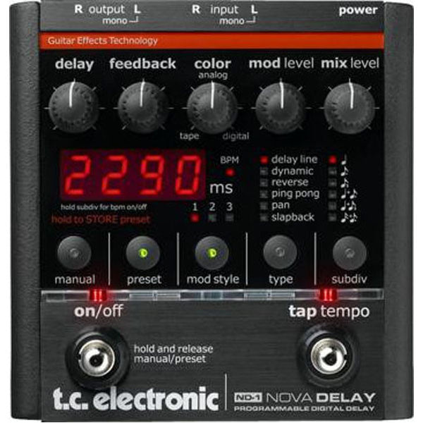 TC Electronic ND-1 Nova Delay Guitar Effects Pedal