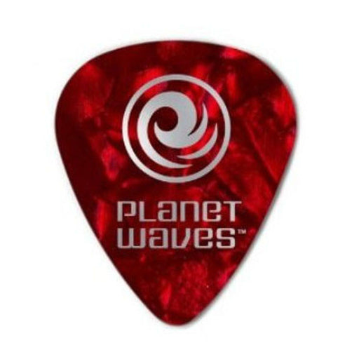 Planet Waves 1CRP4 Celluloid Standard Red Pearl/Medium Guitar Pick - Pack of 10