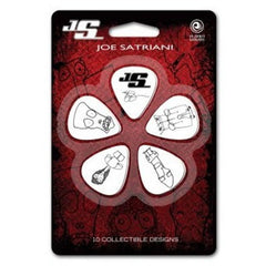 Planet Waves 1CWH2-10JS White Thin Joe Satriani Guitar Pick, 10-Pack