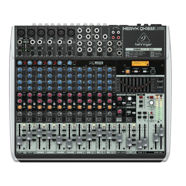 Behringer XENYX QX1832USB USB Audio Mixer with Effects