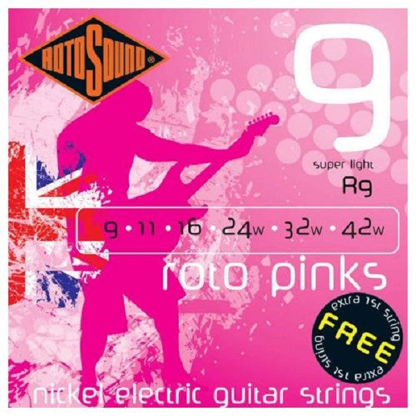 Rotosound R9 Pink Electric Guitar Strings