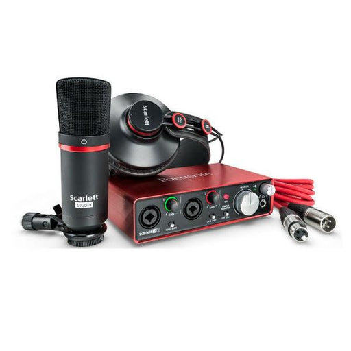 Focusrite Scarlett Studio Recording Package With Audio Interface - 2nd Gen - Open Box