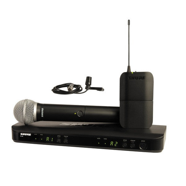 Shure BLX1288/CVL Dual-Channel Wireless System w/Lavalier Microphone H8 518-542