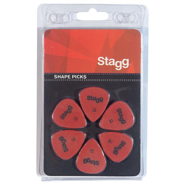 Stagg 1mm Standard Plastic Picks Red - Pack of 6