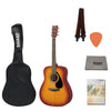 Yamaha F310 Dreadnought Acoustic Guitar with Dust Cover, Strap, Polishing Cloth, Picks & E book