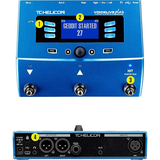 TC Helicon VoiceLive Play Vocal Effect Processor Pedal