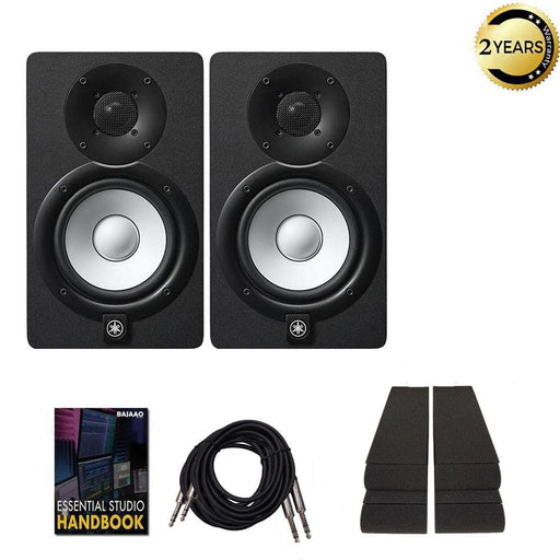 Yamaha HS-5 Studio Monitor Speakers with Isolation Pads, Cables and Ebook  - Pair