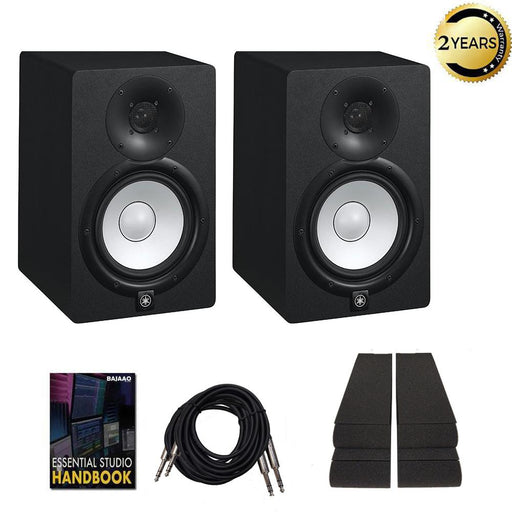 Yamaha HS7 Two Way 6.5inch Active Monitor with Isolation Pads, Cable and Ebook - Pair