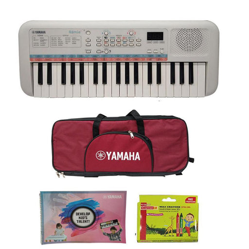 Yamaha Remie PSS E30 Kids Compact 37 Key Portable Keyboard with Gigbag, Colouring Book & Crayons
