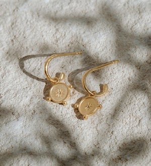 Load image into Gallery viewer, Kirstin Ash - Voyager Coin Hoops in 18K Gold Vermeil