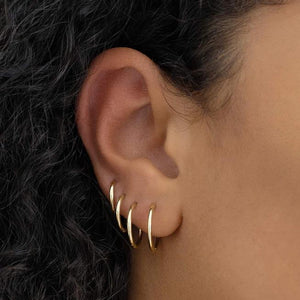 By Charlotte - 14K Solid Gold Purity Sleepers