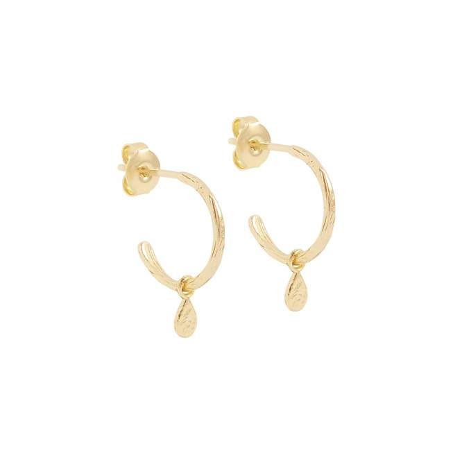 By Charlotte - Gold Grace Hoops