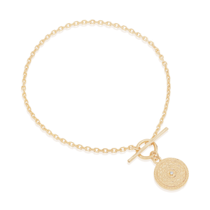By Charlotte - A Thousand Petals Fob Bracelet in Gold
