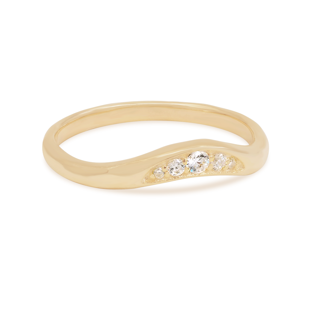 By Charlotte - Path to Peace Ring in Gold