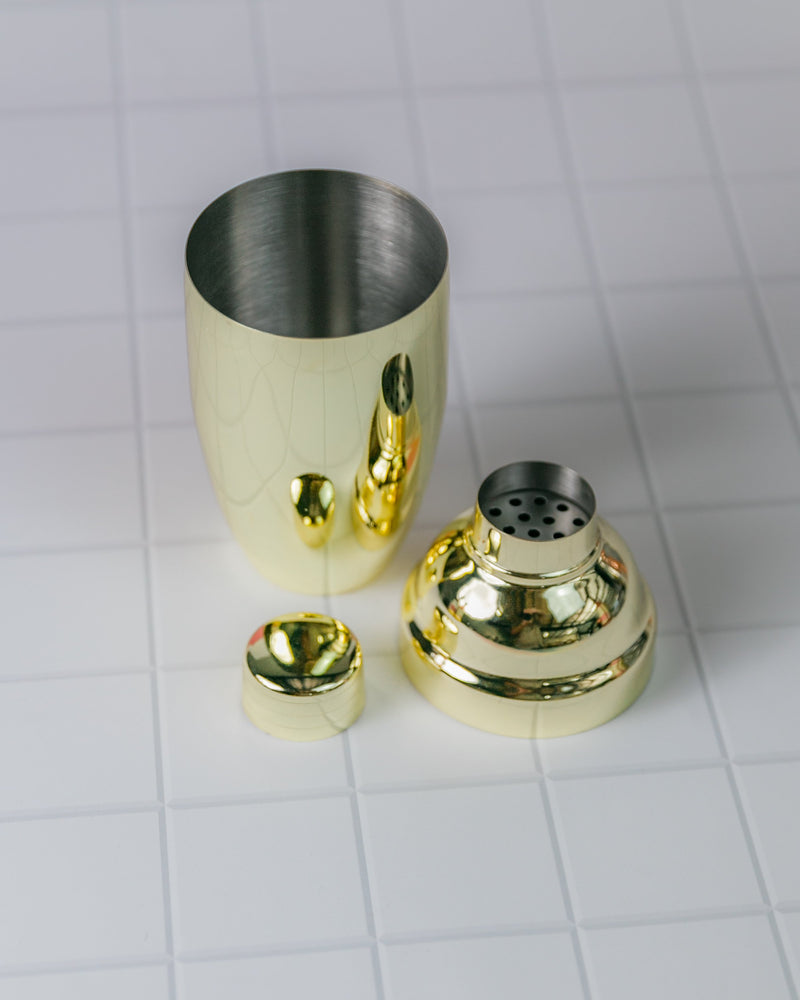Cocktail Shaker in Gold