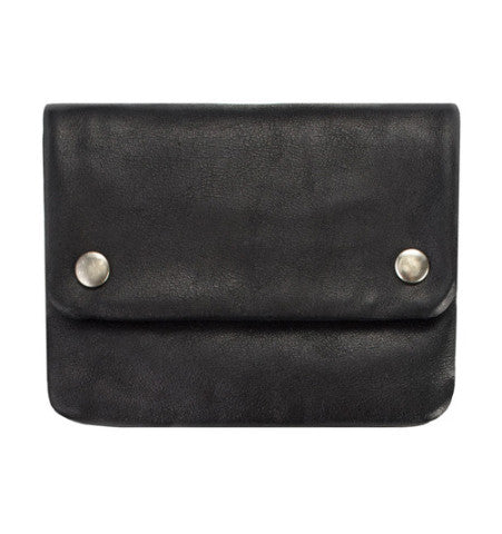 THE NORMA WALLET IN BLACK.