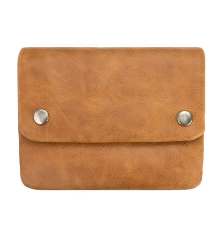 THE NORMA WALLET IN TAN.