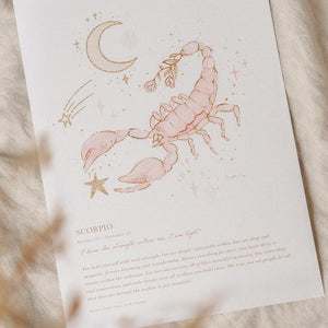 Load image into Gallery viewer, By Charlotte - Scorpio Zodiac A4 Unframed Print