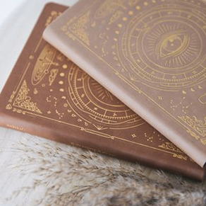 Magic of I - Vegan Leather Journal in Fawn