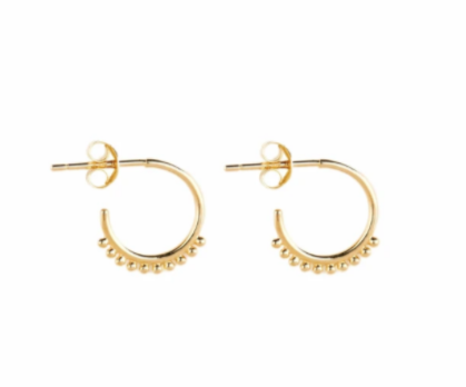 By Charlotte - Cherish Hoop Earrings - Gold