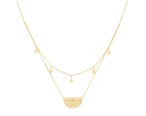 By Charlotte - Blessed Lotus Necklace in Gold