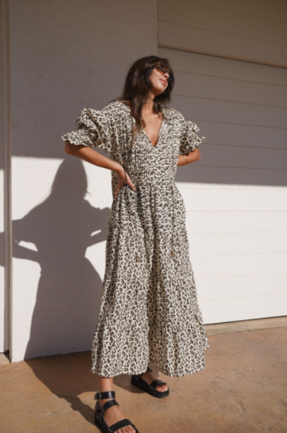 La Boheme Girls - Willow Maxi in Leopard