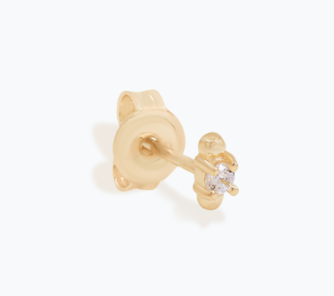 By Charlotte - I Am Light Stud Earrings in Gold
