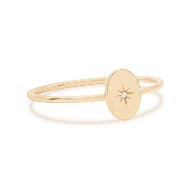 By Charlotte - 14k Gold Shine Your Light Ring