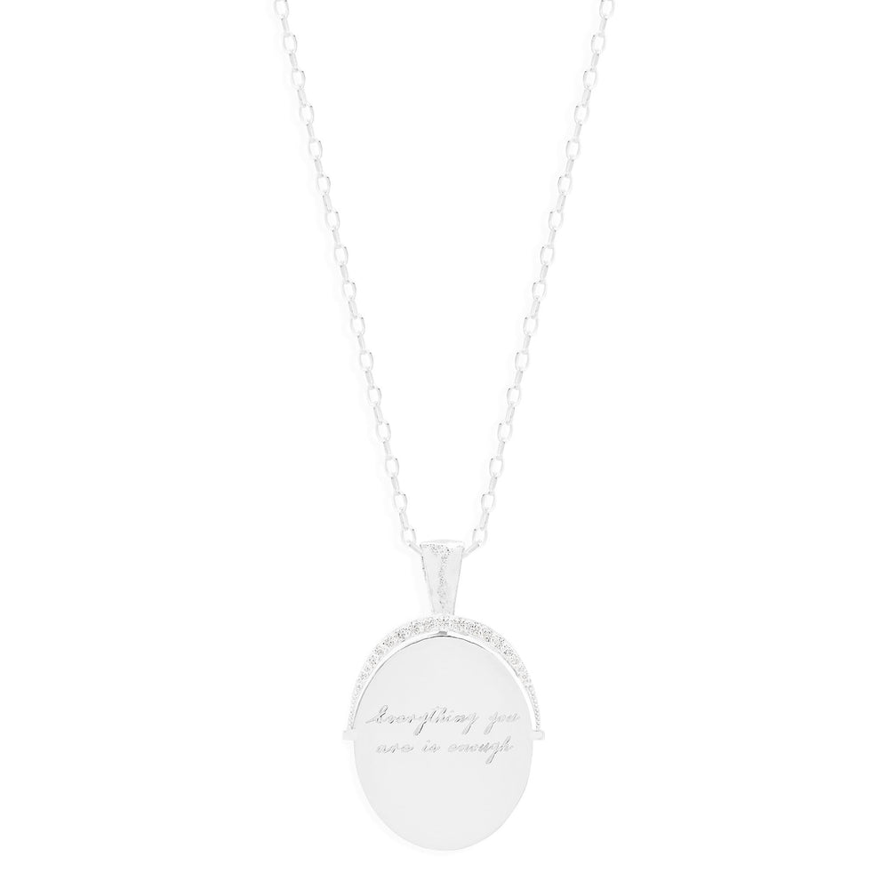 By Charlotte - Small Everything You Are Is Enough Necklace in Silver