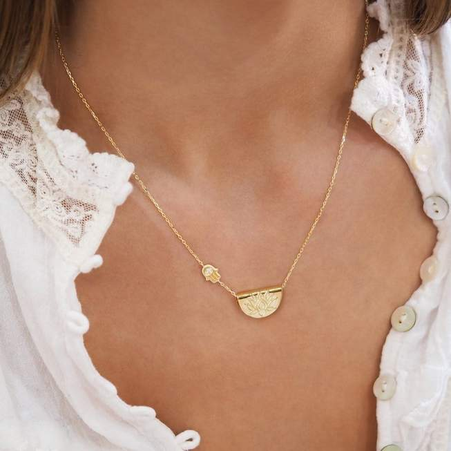 By Charlotte - Sacred Guardian Necklace in Gold