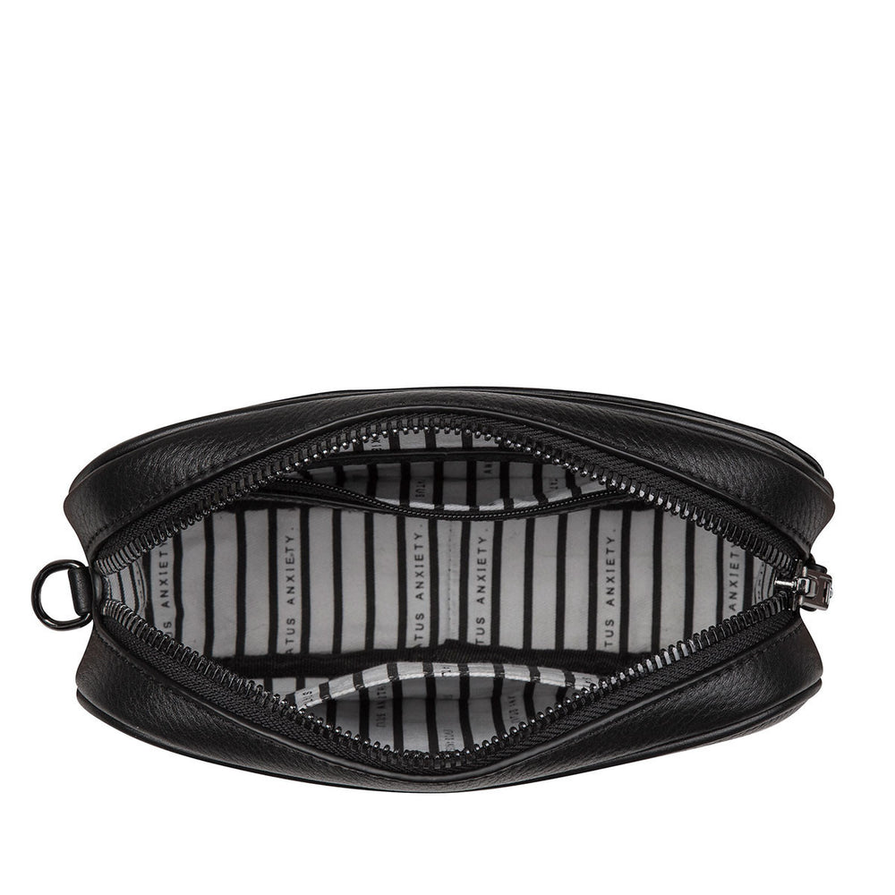 THE PLUNDER BLACK LEATHER BAG FROM STATUS ANXIETY 4