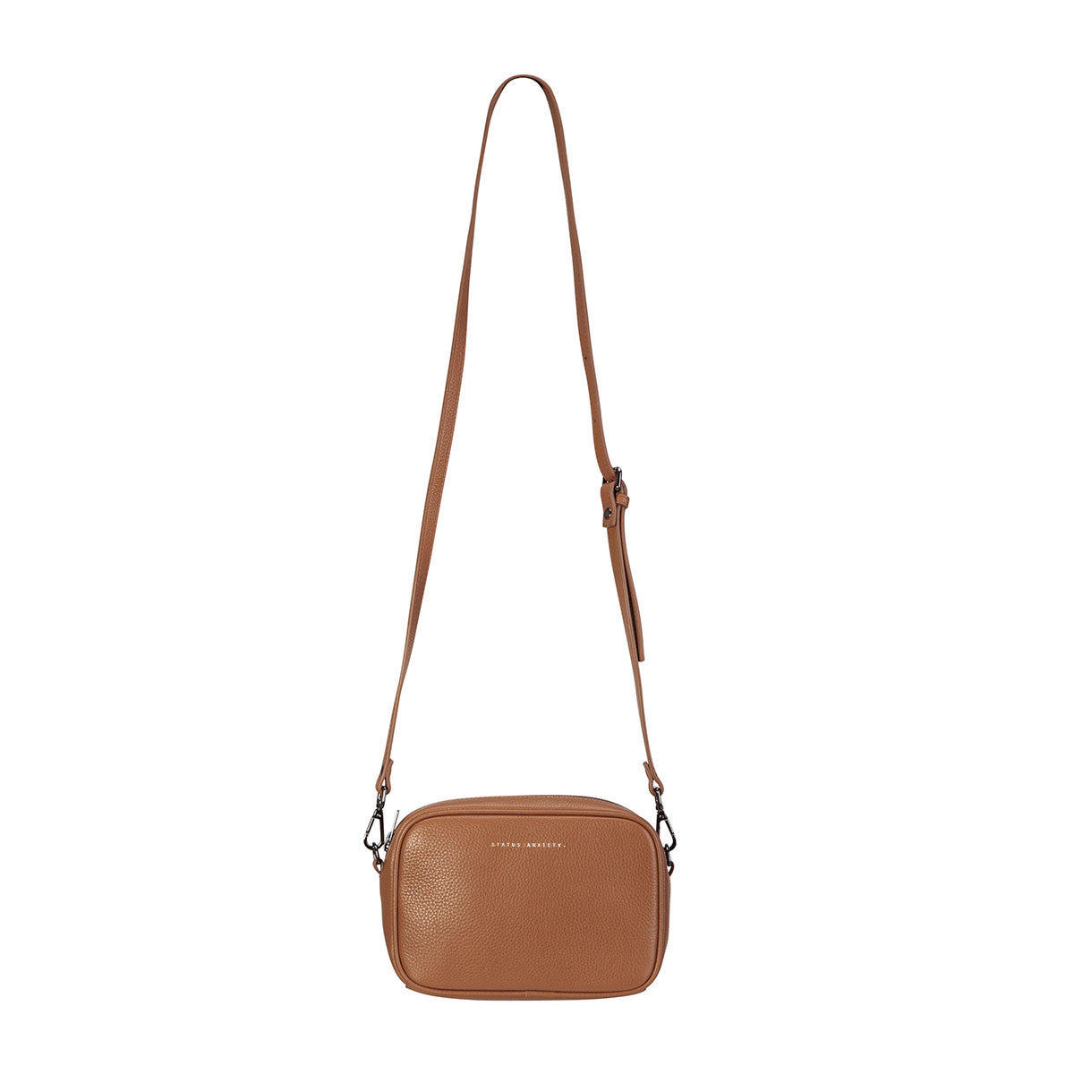 THE PLUNDER TAN LEATHER BAG FROM STATUS ANXIETY