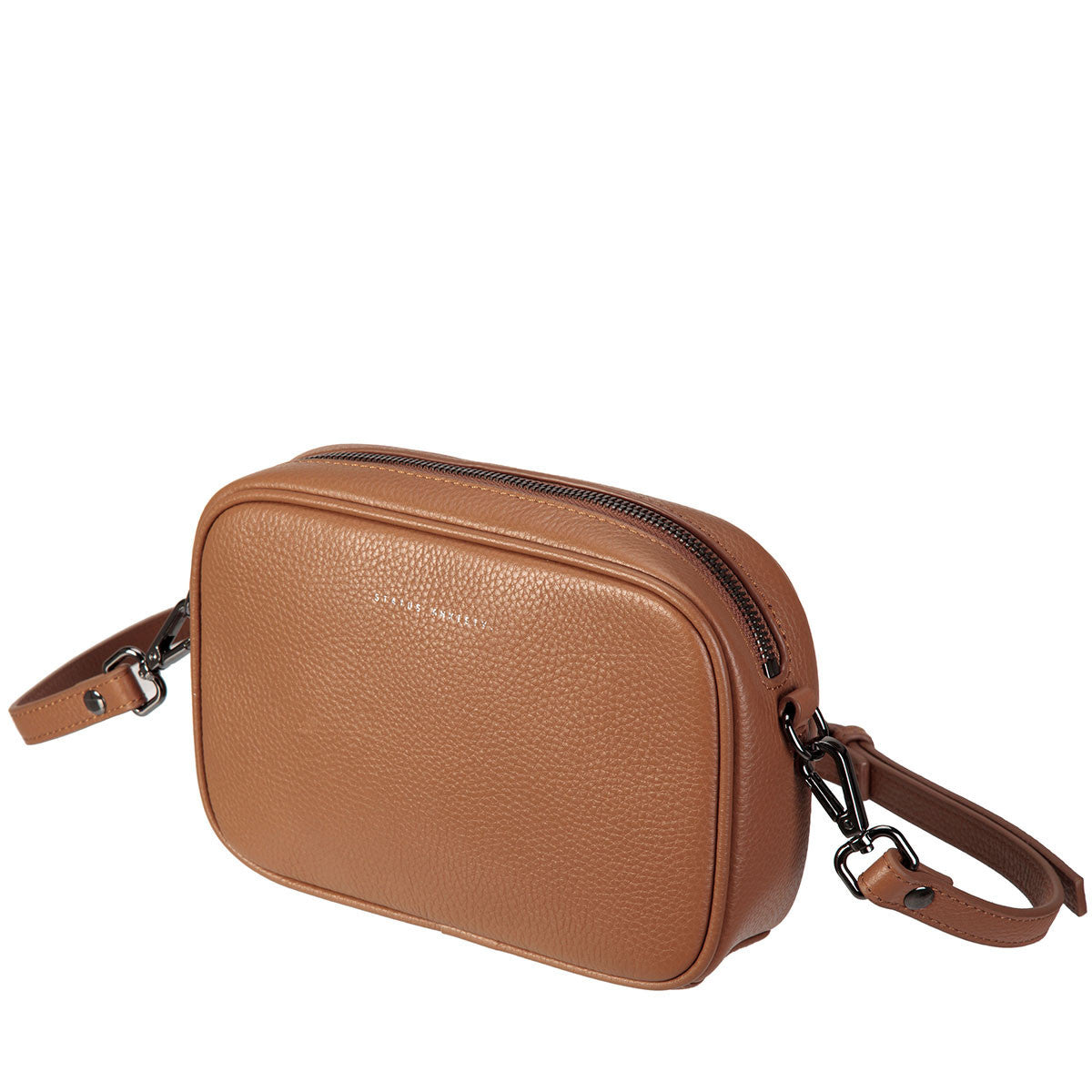 THE PLUNDER TAN LEATHER BAG FROM STATUS ANXIETY 5