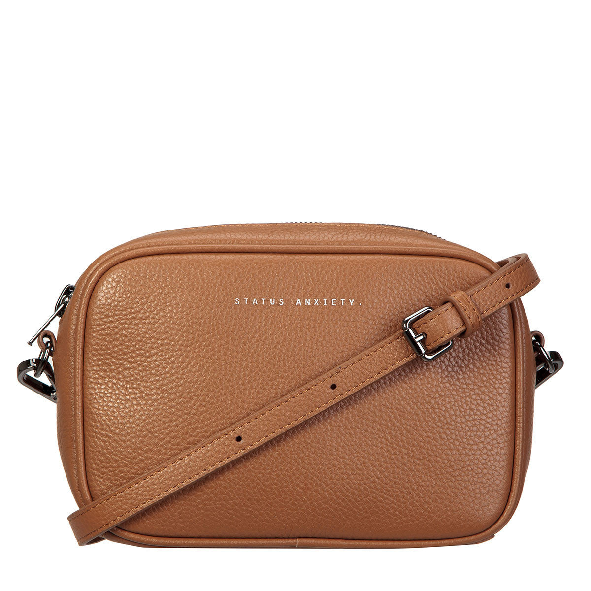 THE PLUNDER TAN LEATHER BAG FROM STATUS ANXIETY 2