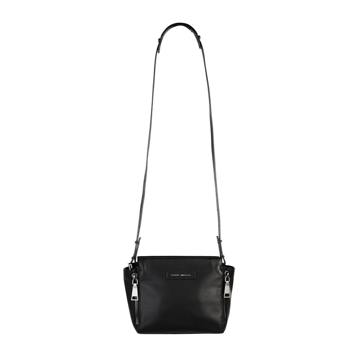 Status Anxiety The Ascendants Black Leather Hand Bag