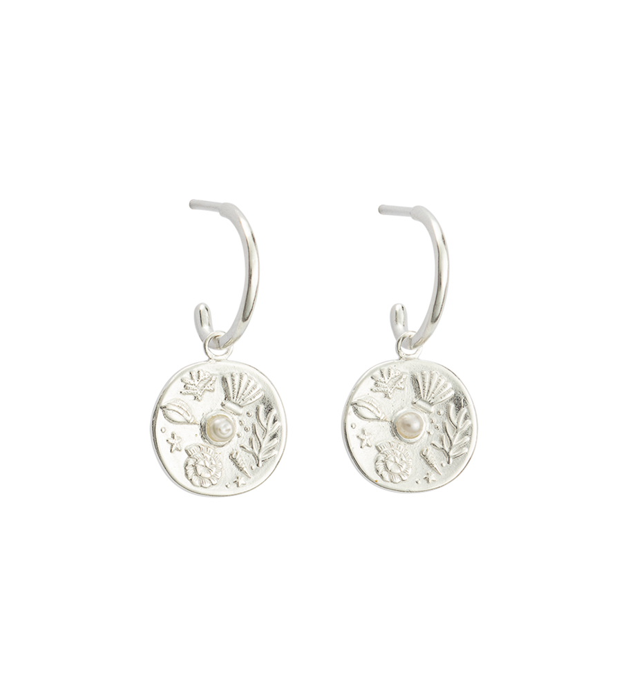 Kirstin Ash - By The Sea Hoops - Sterling Silver