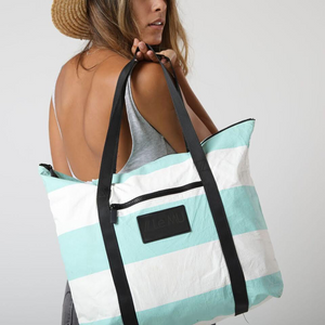 Le MU - Zipper Tote // Pool 3 Stripe