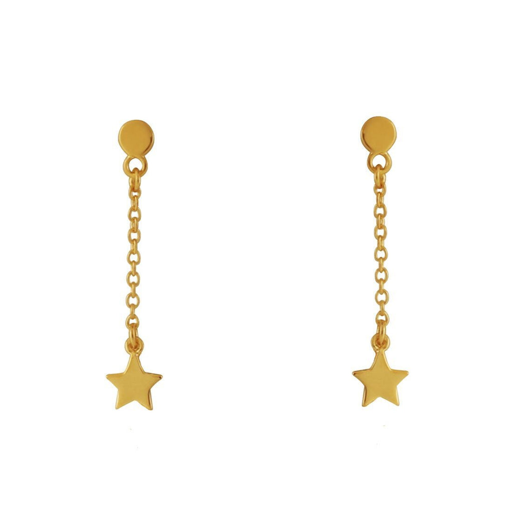 Midsummer Star - Star Chain Studs In Gold