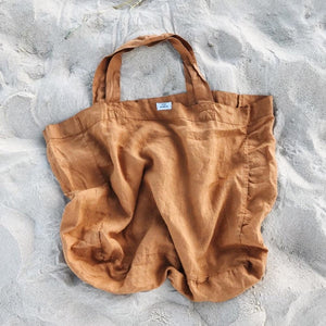 Load image into Gallery viewer, Dos Ombré - 100% LINEN MARKET TOTE | Amber