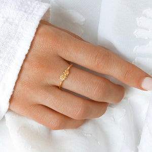 Midsummer Star - Gold Dioscuri Ring