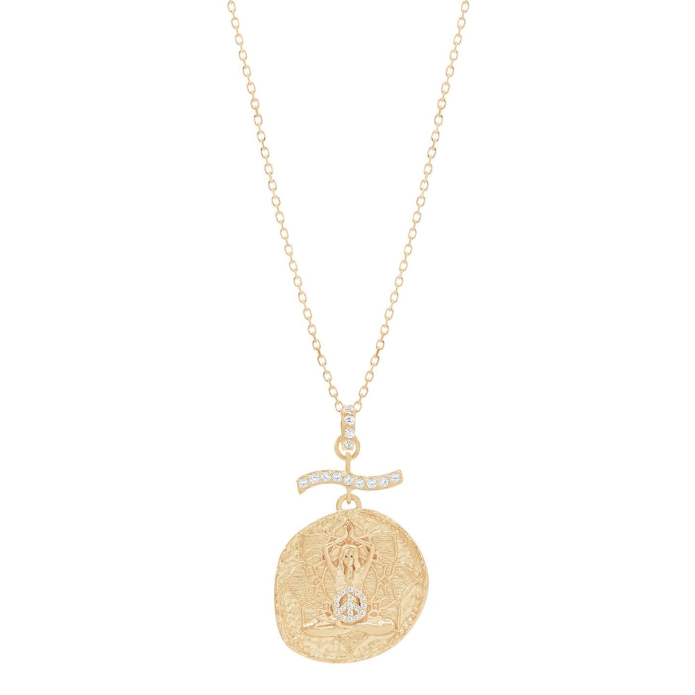 Load image into Gallery viewer, By Charlotte Divine Goddess Necklace- Gold