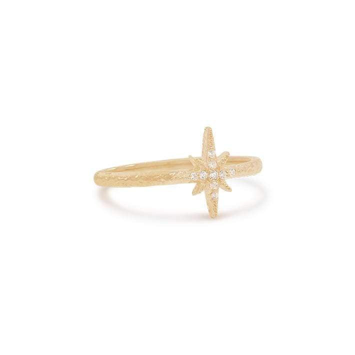 By Charlotte - Gold Starlight Ring Large