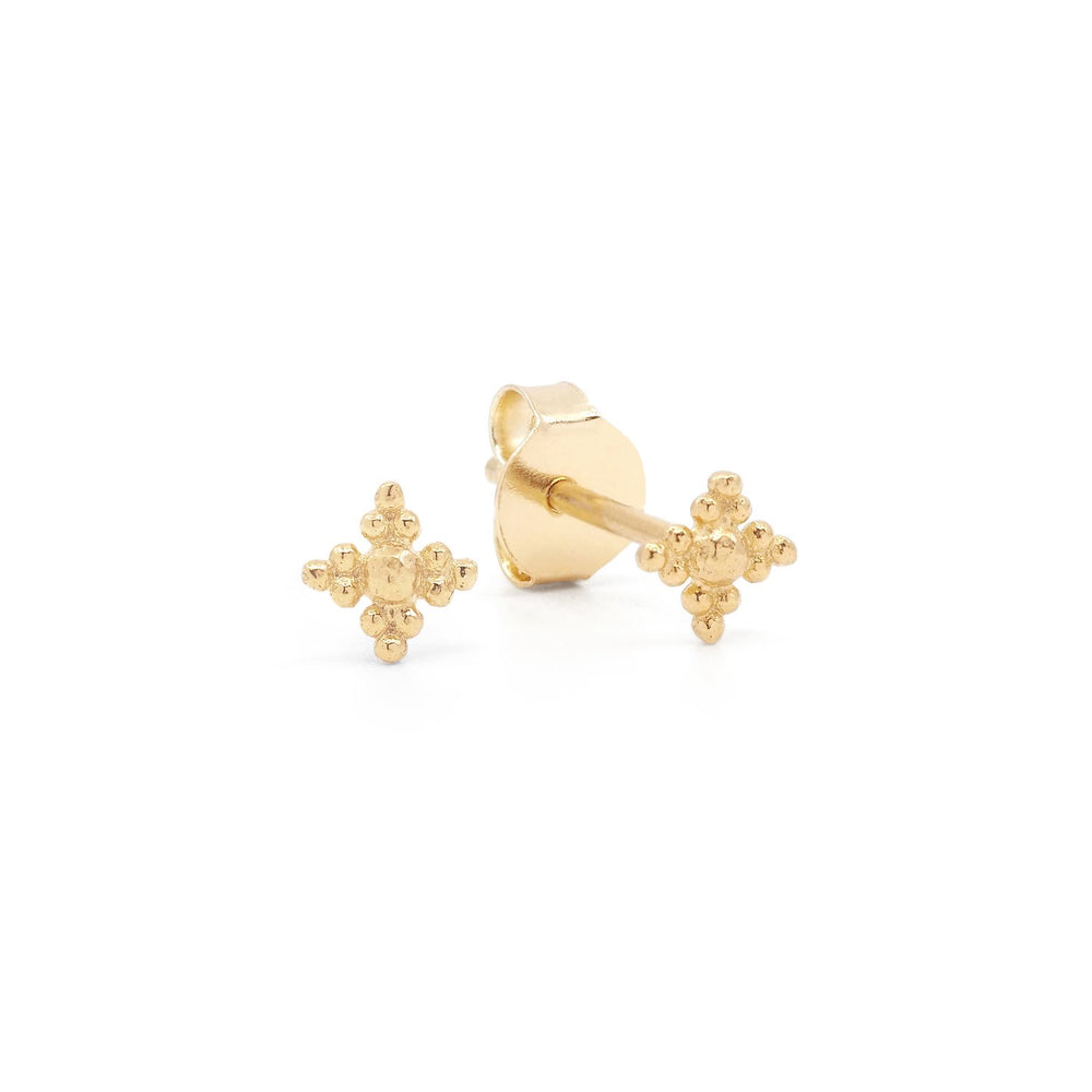 By Charlotte Gold Blessed Studs In Gold