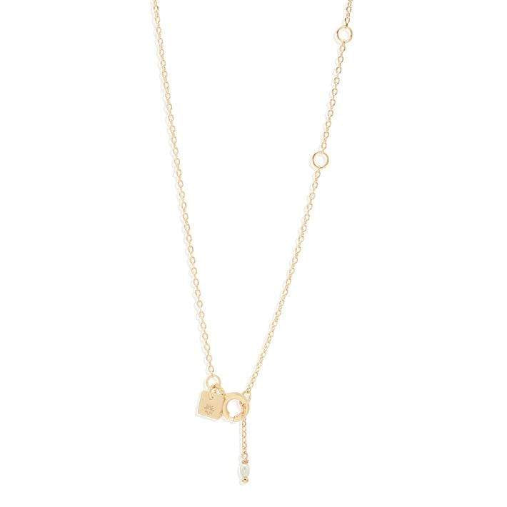 By Charlotte - Heavenly Moonlight Necklace in Gold