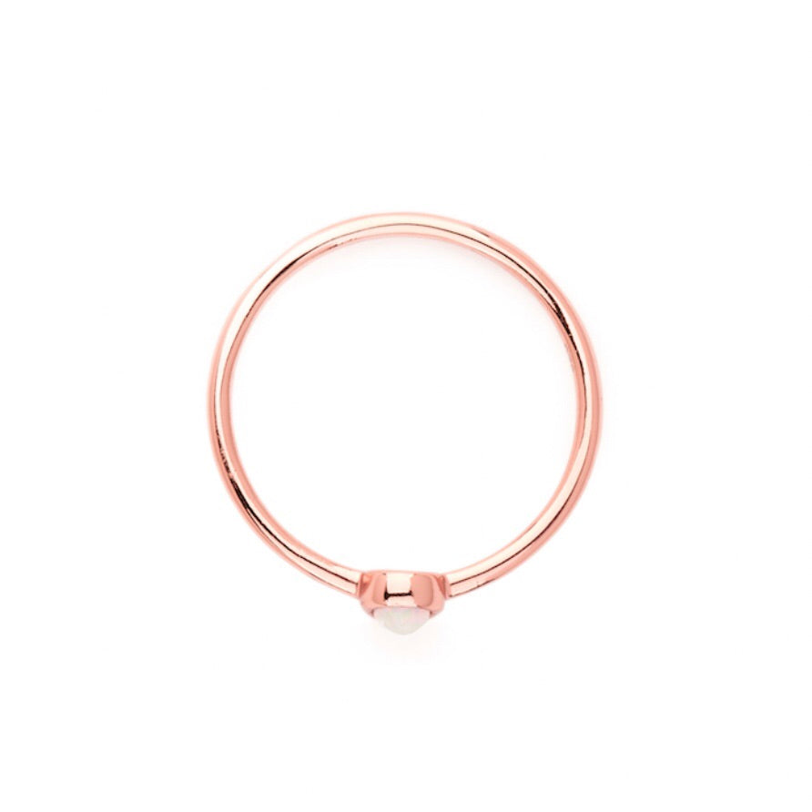 Rose Gold Hope Ring - By Charlotte