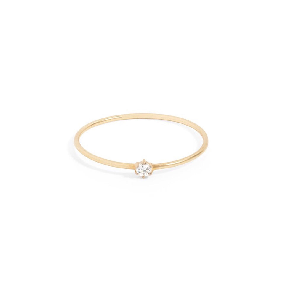 By Charlotte - 14kt Gold Sweet Droplet Ring