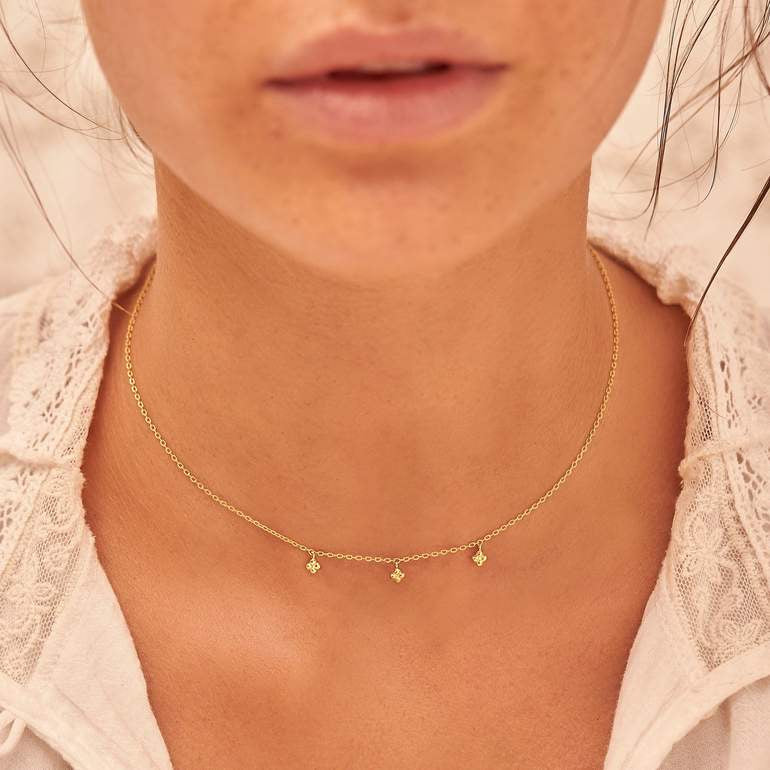 By Charlotte - Gold Charmed Choker