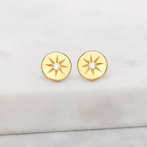 Midsummer Star - enchanted light crystal studs