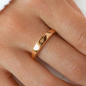 Midsummer Star - Gold Tri Star Signet Ring