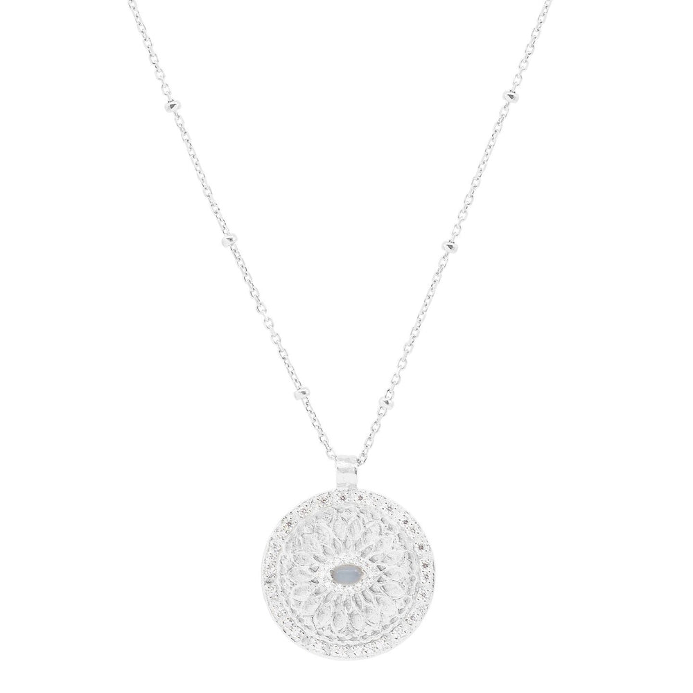 By Charlotte SILVER BLESSED EYE NECKLACE